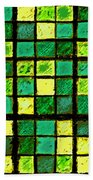 Green And Yellow Sudoku Beach Towel