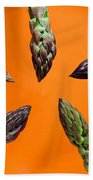 Green Asparagus - Fresh Food Photography Beach Towel