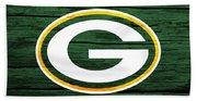Green Bay Packers Barn Door Beach Towel