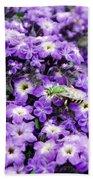 Green Bee Tiny Pollinator Beach Towel