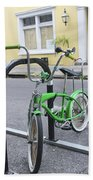 Green Bike Beach Towel