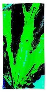 Green Blue Plant Abstract Beach Towel