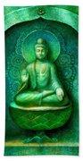 Green Buddha Beach Towel