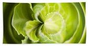 Green Cabbage Orb Beach Sheet