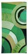 Green Circle Abstract Beach Towel