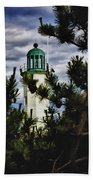 Green Copper Lantern Room On Scituate Lighthouse Beach Towel