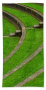 Green Curves And Steps Beach Towel