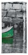 Green Dinghy Floating Beach Towel