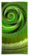Green Fronds Beach Towel