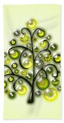 Green Glass Ornaments Beach Towel