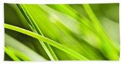Green Grass Abstract Beach Towel