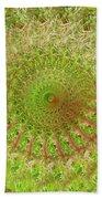 Green Grass Swirled Beach Towel