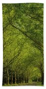Green Green World Beach Towel