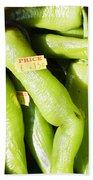 Green Jalpeno Peppers Beach Sheet