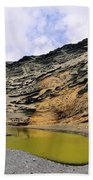 Green Lagoon On Lanzarote Beach Towel