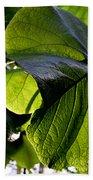 Green Leaf I Beach Towel