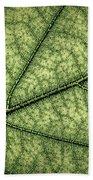 Green Leaf Texture Beach Towel