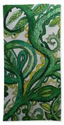 Green Meditation Beach Towel