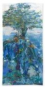 Green Mountain Tree Beach Towel