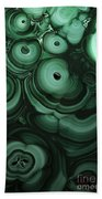 Green Patterns Of Malachite Beach Towel