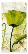 Green Poppy 003 Beach Towel