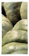 Green Pumpkins Beach Towel