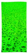 Green Representational Abstract Beach Towel