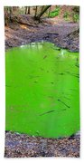 Green Spill Beach Towel