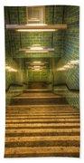 Green Stairs Beach Towel