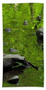 Green Stream Beach Towel