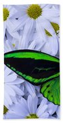 Green Wings In The Mums Beach Towel