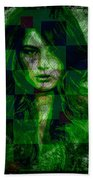 Green With Envy Beach Towel