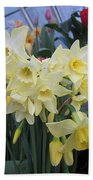 Greenhouse Daffodils Beach Towel
