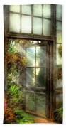 Greenhouse - The Door To Paradise Beach Towel by Mike Savad