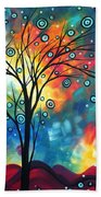 Greeting The Dawn By Madart Beach Towel
