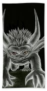 Grevil Statue Beach Towel