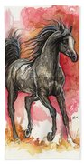 Grey Arabian Horse 2014 01 12 Beach Towel