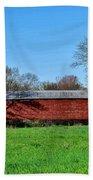 Griesemers Mill Covered Bridge Berks County Pennsylvania Beach Towel