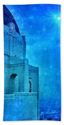 Griffith Park Observatory At Night Beach Towel