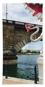 Griffin Charms The London Bridge Beach Towel