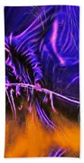 Grim Reaper In Abstract Beach Towel