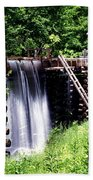 Grist Mill And Water Trough Beach Towel