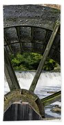 Grist Mill Wheel With Spillway Beach Towel
