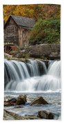 Grist Mill With Vibrant Fall Colors Beach Towel