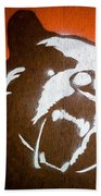 Grizzly Bear Graffiti Beach Towel by Edward Fielding
