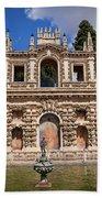 Grotesque Gallery In Real Alcazar Of Seville Beach Sheet