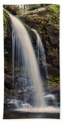 Grotto Falls Tennessee Beach Towel