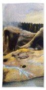 Grotto Geyser Yellowstone Np 1928 Beach Towel