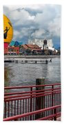 Grounded By The Storm Balloon Ride Walt Disney World Beach Towel