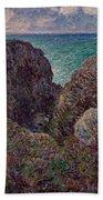 Group Of Rocks At Port Goulphar Beach Towel